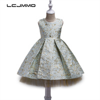 LCJMMO Fashion Girls Dress Summer 2017 Princess Party Kids Bronzing Dresses For Girls Children S Costume