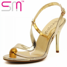 Fashion Transparent Women's Sandals 2016 Strap Sexy High Heels Gladiator Sandals Summer Shoes Woman Open toe Women's Shoes