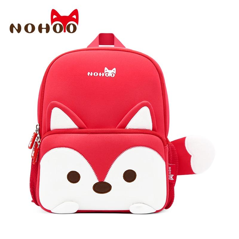 Nohoo Cute Fox Toddler Backpack Waterproof 3D Animal Preschool Kids Backpack Cute Lunch Box for 2-7 Years Old