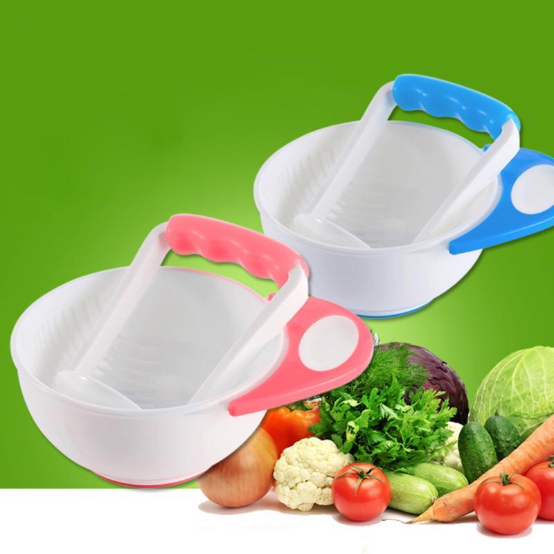 Купить с кэшбэком Baby Mill Grinding Bowl Manual Baby Infant Food Supplement Bowls Kids Child Holding Fine Food Mill Tableware Dinnerware Tools