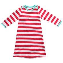 Новорожденных Рождество в полоску пижамы детские Обувь для девочек Обувь для мальчиков полосатые пижамы спальный мешок sleepsack Ночная Костюмы