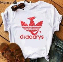 Dracarys Women t shirt Mother of Dragon vogue tshirt female harajuku summer tops tee femme plus size women t-shirt
