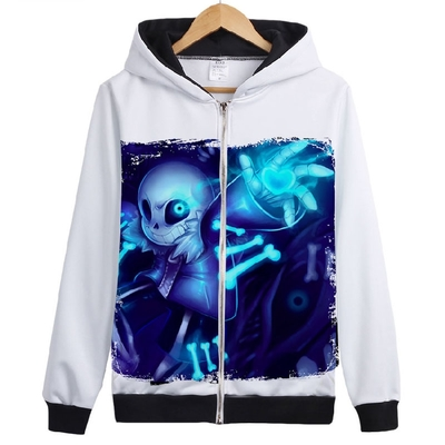 HOT  Game Undertale Zipper Hoodies Unisex Skeleton Asriel Alphys Sweatshirt Jacket Coat