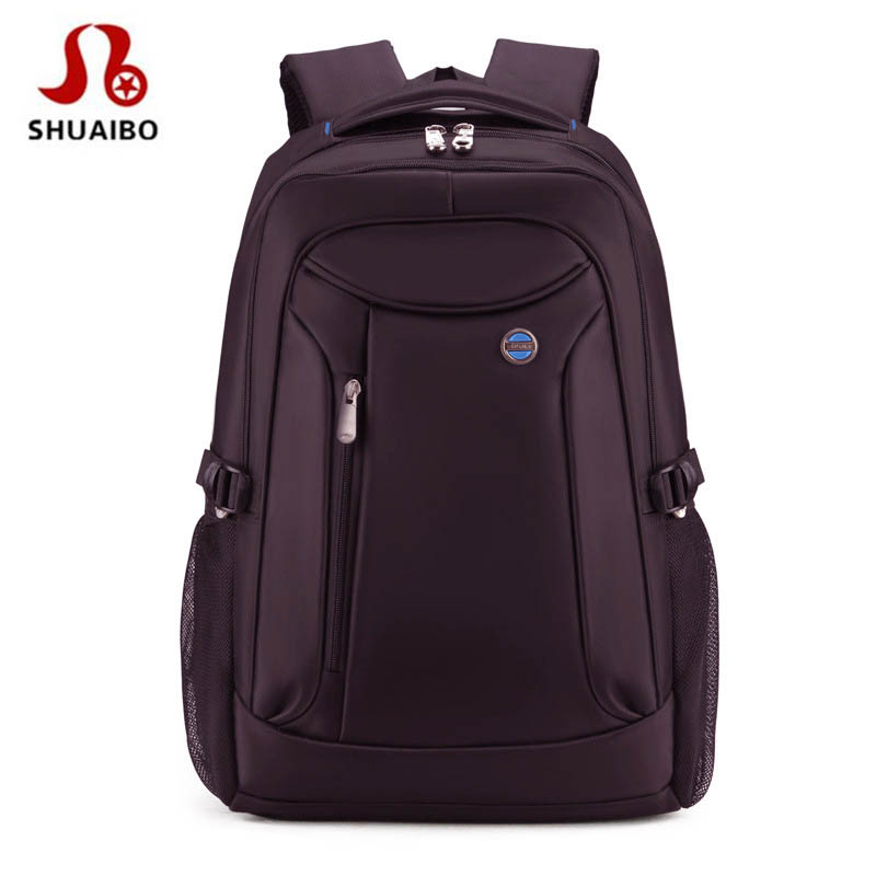 SHUAIBO Large Capacity Fashion Men Backpack Waterproof Travel Backpack Multifunctional Bag Male Laptop Backpacks Mochila 16 Inch newest luxury crystal clutch bag flower female evening bag rhinestone diamond studded handbags women wedding bridal party purse