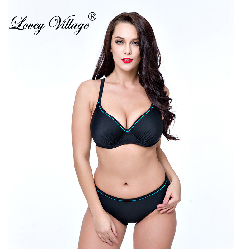 women sexy push up plus size bikini set retro bathing suit maillot de bain swimsuit swimwear. Black Bedroom Furniture Sets. Home Design Ideas