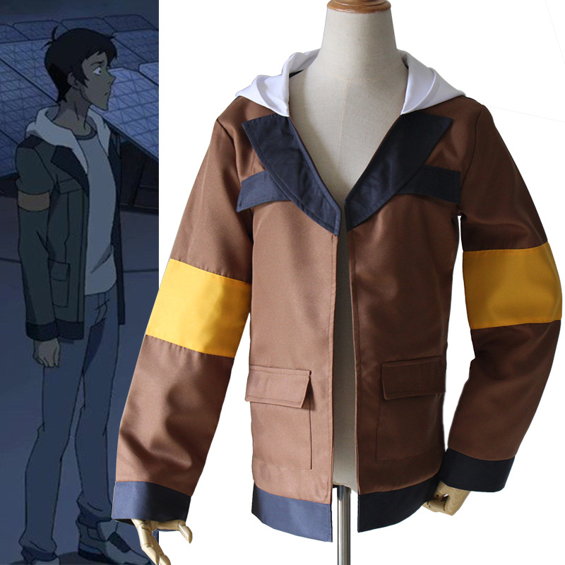 2018 Anime Voltron Legendary Defender Lance Keith Cosplay Costume Lance Hood Jacket For Halloween Carnival Top Coat Costumes