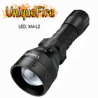 UniqueFire UF-1407 XM-L2 1200LM LED Flashlight Torch 5 Modes Brightness Lamp Waterproof White Light