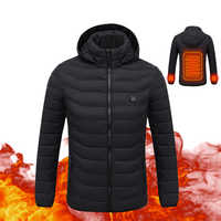 2018 New Motorcycle Jacket Men Autumn Winter USB Infrared Heating Jacket Chaqueta Moto Thermal Motorbike Riding Jacket Hooded