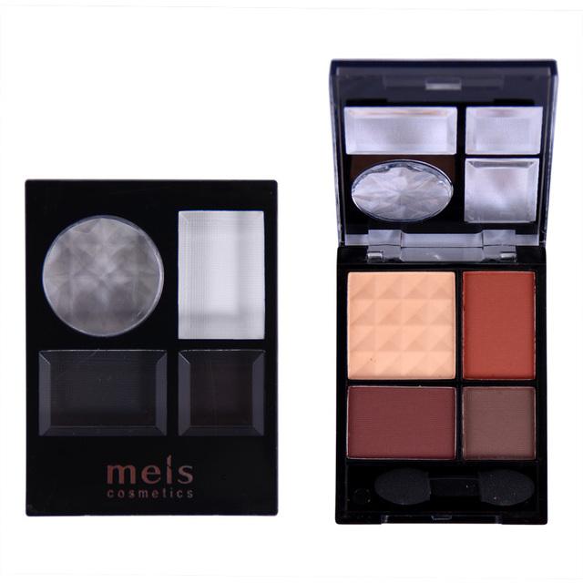 Maquiagem 4 cores de sombra paleta de maquiagem sombra matte nu beleza 6 peças/set 0413