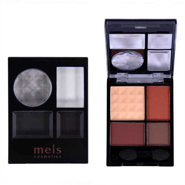 quality eyeshadow palette maquiagem makeup 4 colors eye shadow matte naked beauty 6 pieces / set wholesale Free shipping 0413