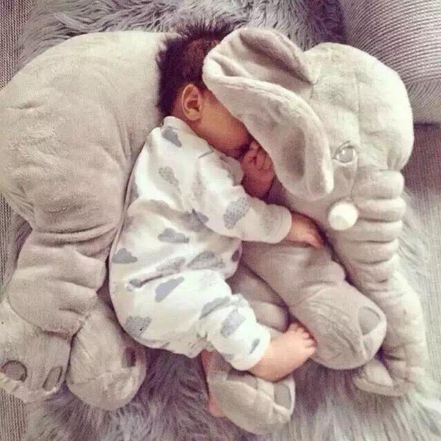 2016 Hot Bebé Elefante Bebé La Lactancia Materna Almohada Almohadas Almohada Cintura Niños Muñecos de Peluche Para Bebés (El Pequeño)