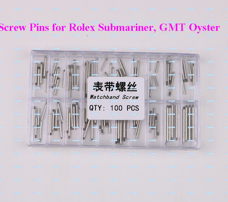 Free Shipping  100 Stainless Steel Screws Pins For Rlx Watch Band