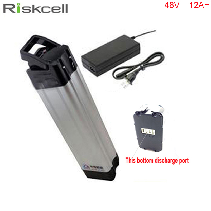 Bottom discharge 48V 12AH Li-ion Battery with Aluminium Case and BMS Ebike Bike Electric Bicycle Battery For Electric Scooter 48v 15ah li ion ebike battery 750w 48v 15ah bottle battery pack use samsung 3000mah cell 20a bms with 2a charger