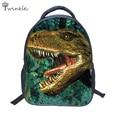 3D животное рюкзак динозавров печать мешок школы для детей мальчиков 2 - 6 т детский сад водонепроницаемый школьные сумки подарок для ребенка mochila