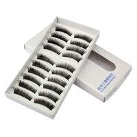 10 Pairs Natural Neat Charming Black Eye Lashes Long Thick False Eyelashes New Promotion Free Shipping