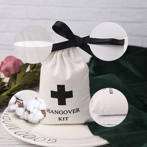 Image 4 - 綿100ジュエリー包装リボンホワイトキャンバス巾着バッグ結婚式の好意バッグパーソナライズされたカスタムロゴシックな小さなポーチ