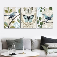 Chinese Flowers and Birds Wall Picture Posters Print Canvas Painting Calligraphy Decor for Living Room Home Frameless