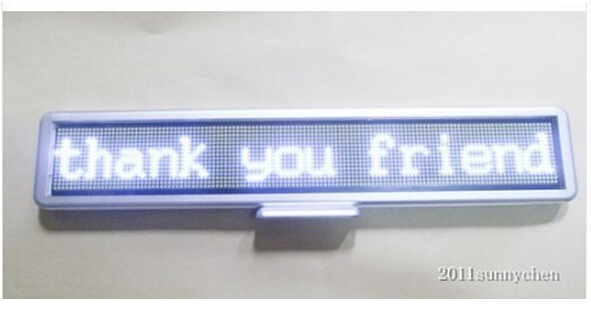 21x4 Programmable LED Car Moving Display Sign Board Scrolling Message white LED