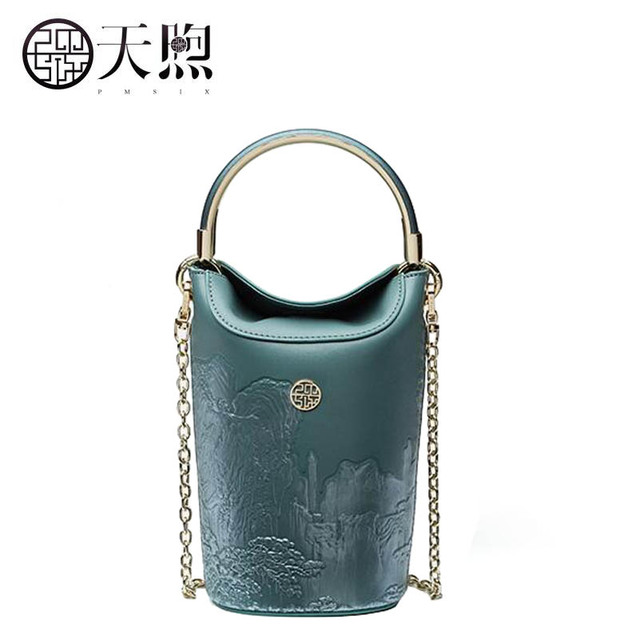 New Women Leather Bags Fashion Landscape Painting Luxury Tote Handbags Designer Bag Crossbody