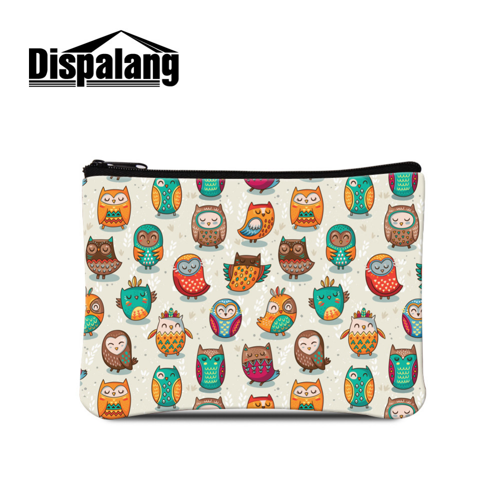 Dispalang Mini Coin Purse Cartoon Animal Coin Zipper Pouch Women Small Coin Wallet Owl Kid Change Wallet Key Bag Monederos Mujer