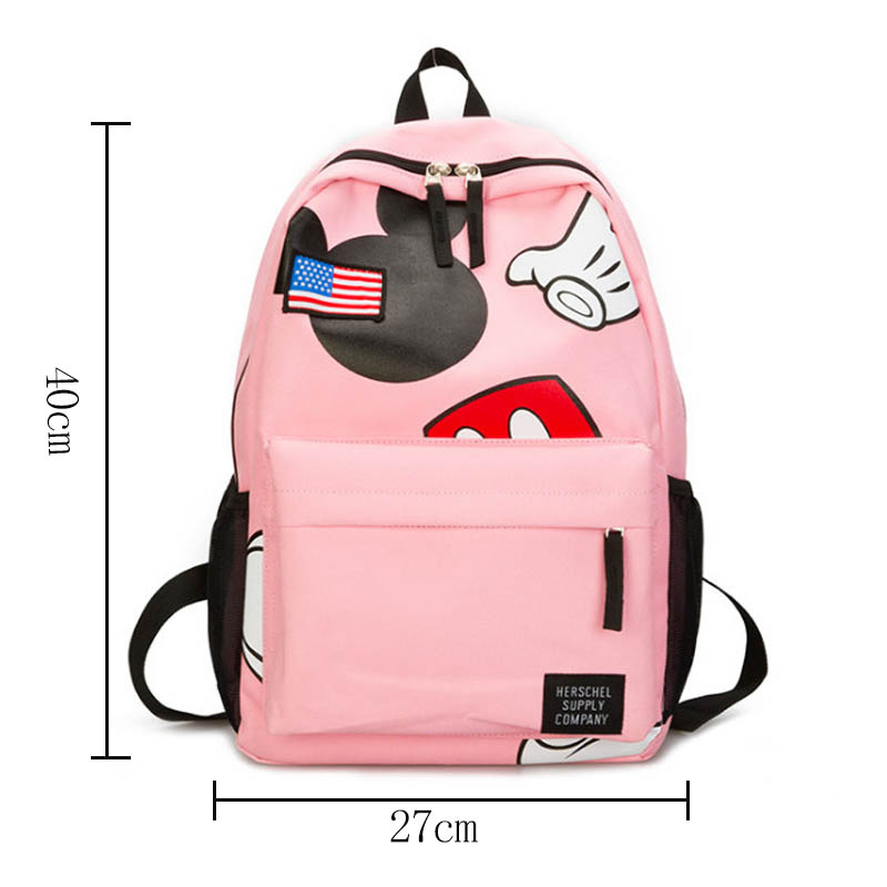 2019 New Minnie Mickey shape Travel Backpack Diaper Bags Canvas Mommy Maternity Nappy Bag Baby Mom Storage Hanging Mummy Bag