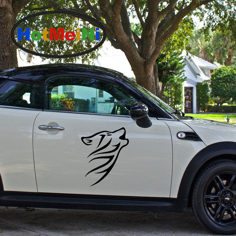 HotMeiNi 2 X Large Beast Howling Wolf Howling Call Unit Group Car Sticker SUV Door Side Window Car Cover Vinyl Decal 9 Colors