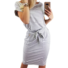 Elegant New Striped Summer Dress