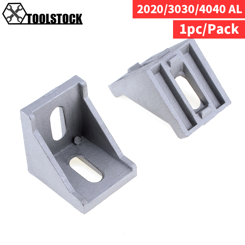 20/30/40 Aluminum Angle Code With Nut Hole Support T-slot Profile Frame Extrusion Bracket For Connecting The Flow Profile