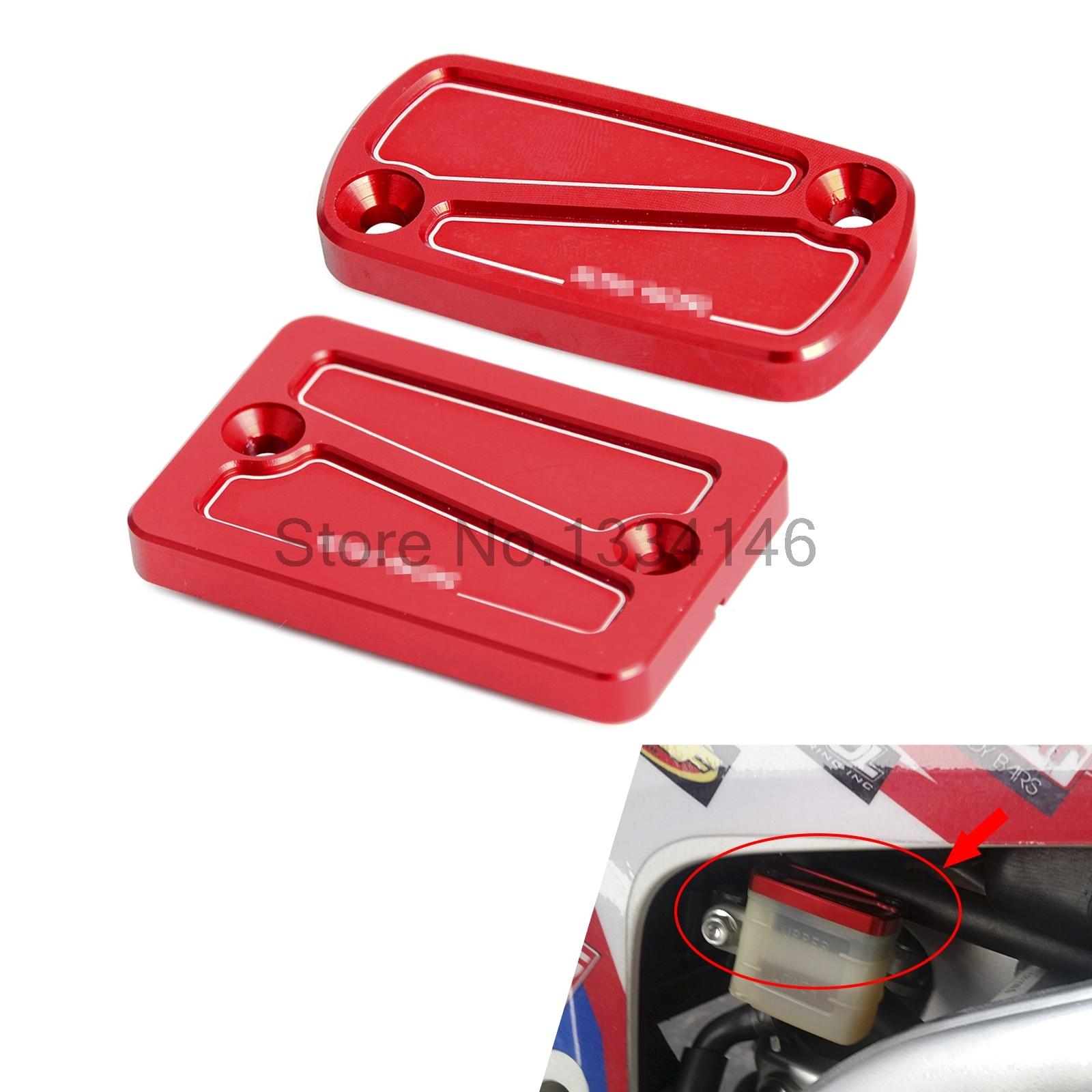 CNC Front & Rear Brake Reservoir Fluid Cover Cap For Honda CRF250L CRF250M 2012-2015 2013 2014 15 Motocross Supermoto Dirt Bike