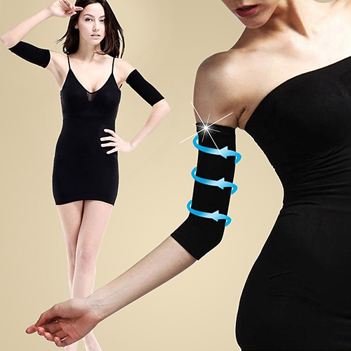 Womens Slimming Leg Shaper Cellulite Calf Sleeve Brace Support Compression Socks