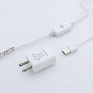 Image 3 - Dropship 2M USB Sewing Machine LED Light Strip Flexible Sewing Lights US/EU/UK Plug with Adhesive Clips
