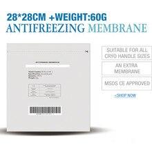 Free shipping 100pcs 28 28cm cryolipolysys antifreeze membrane