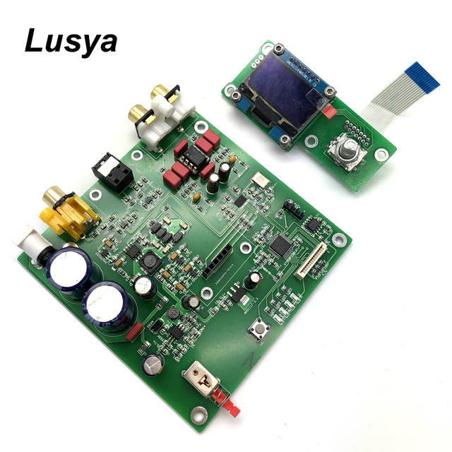 ES9038 Q2M I2S DSD Decoder Coaxiale Fiber Ingang DAC Decodering Boord HIFI Audio Versterker Board F7 003