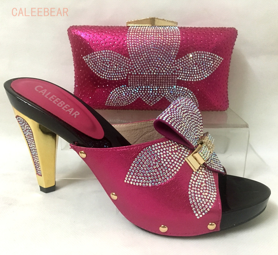 Latest Design Italian Shoes And Bags Set To Match High Quality Fashion Style Women Shoes Black