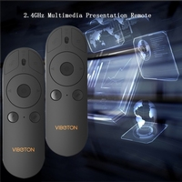 Powerpoint Presentation Remote Control Laser Pointer 2.4GHz Multimedia Remote Wireless Presenter Handheld Controller Flip Pen