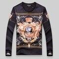 Luxury мужская Толстовки И Кофты 2016 Мода Длинным Рукавом Пуловеры Толстовки Классический Zeus Печати Бренд Одежды Vetement Homme