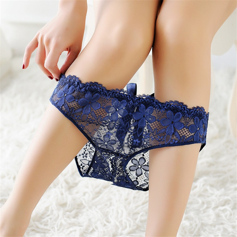 Sexy Lace Crotchless Panties Tempting Women Briefs Open Crotch Low Waist Female Underwear Transparent Sexy Panty Cute Underwear (6)