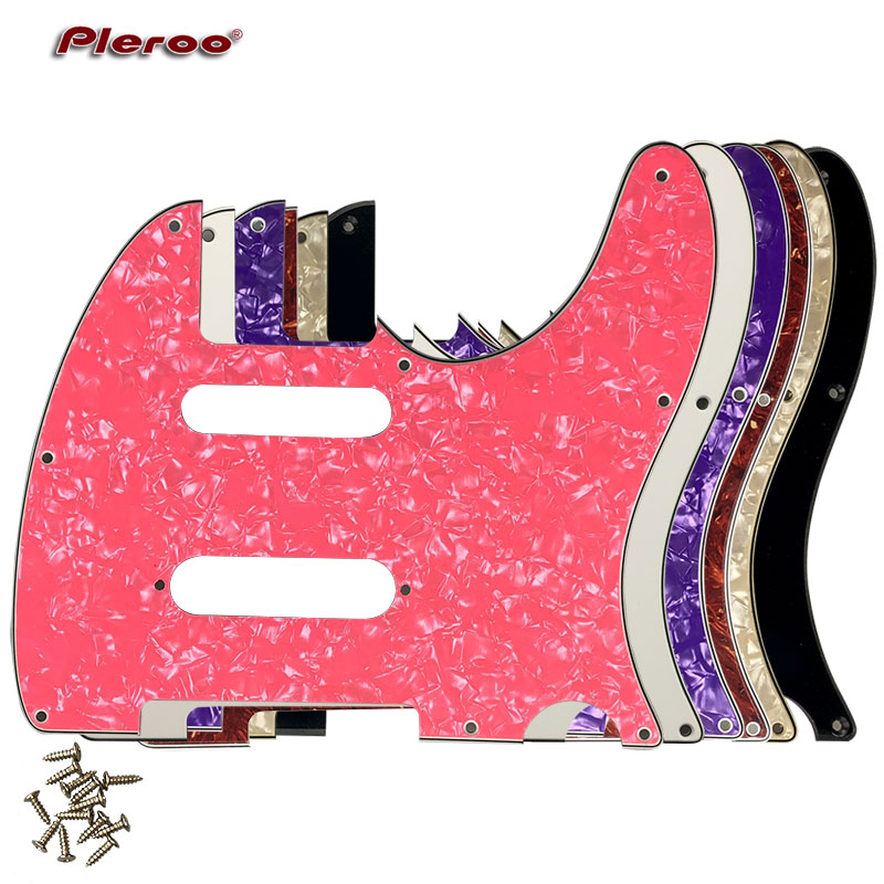 Pleroo Custom Guitar Parts - For US Nashville 62 Tele Telecaster Guitar Pick Guard With Strat Pickup Scratch Plate