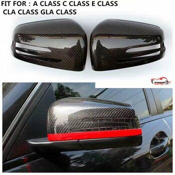 Citycarauto замена углеродного Волокно автомобиля Зеркало заднего вида Чехлы для мангала подходит для c e CLS gla класса