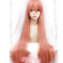 Парик Золотое время оранжевый розовый маскарадный парик для вечеринки волосы 100 см