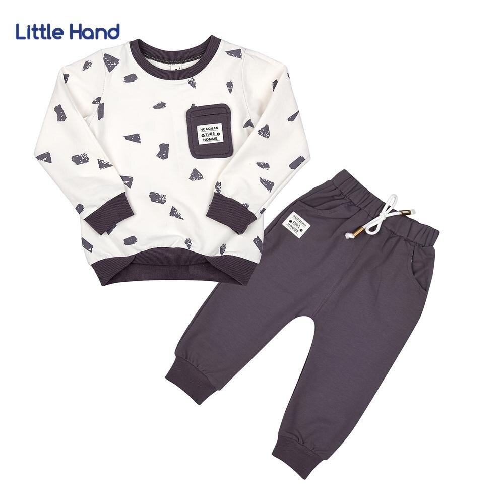 цены на Children Sets White Long Sleeves Tops Black Long Pants 2 Pieces sets Cartoon Boys Clothes Kids Outfit Baby Boy Tracksuits 2-6T в интернет-магазинах