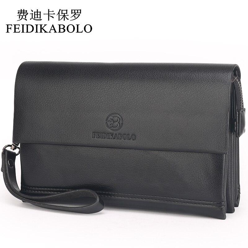 FEIDIKABOLO Berühmte Marke Männer Brieftaschen Männlichen Leder Geldbeutel männer Kupplung Brieftaschen Carteiras Billeteras Mujer Kupplung Mann Handliche Taschen