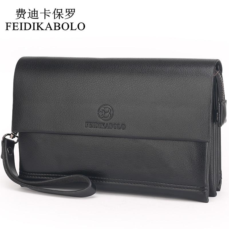 FEIDIKABOLO Famous Brand Men Wallets Male Leather Purse Men's Clutch Wallets Carteiras Billeteras Mujer Clutch Man Handy Bags