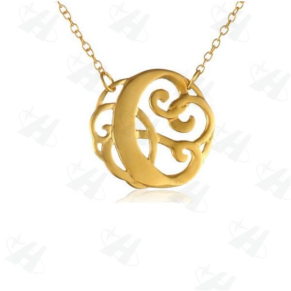 Custom necklacerose gold color initial necklaces pendantsletters custom necklacerose gold color initial necklaces pendantsletters monogram pendant necklacepersonalized aloadofball Choice Image