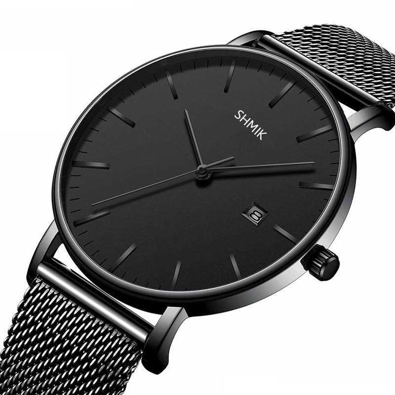 Men Watches Top Brand Luxury Watch Calendar Clock Male Steel Mesh Strap Businesss Casual Date Watch Men