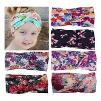 Hot! Children girls headbands Baby cute  vintage flowers  headwraps Girls fashion hair accessories Kids bowknot hair bands