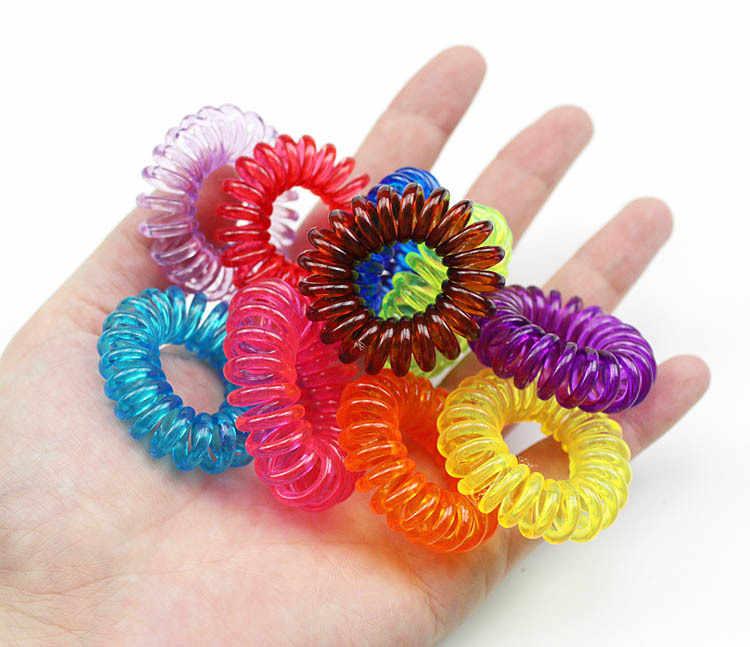 1 adet/grup Yeni 3.5 cm Küçük Telefon Hattı Saç Halatlar Kızlar Renkli Elastik Saç Bantları Çocuk At Kuyruğu Tutucu Kravat Sakız saç aksesuarları