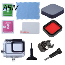 Protective Sport Camera Kits Set for Gopro Hero 5, including Waterproof Shell Case with Clean Cloth and Screen Film Lens Cap etc