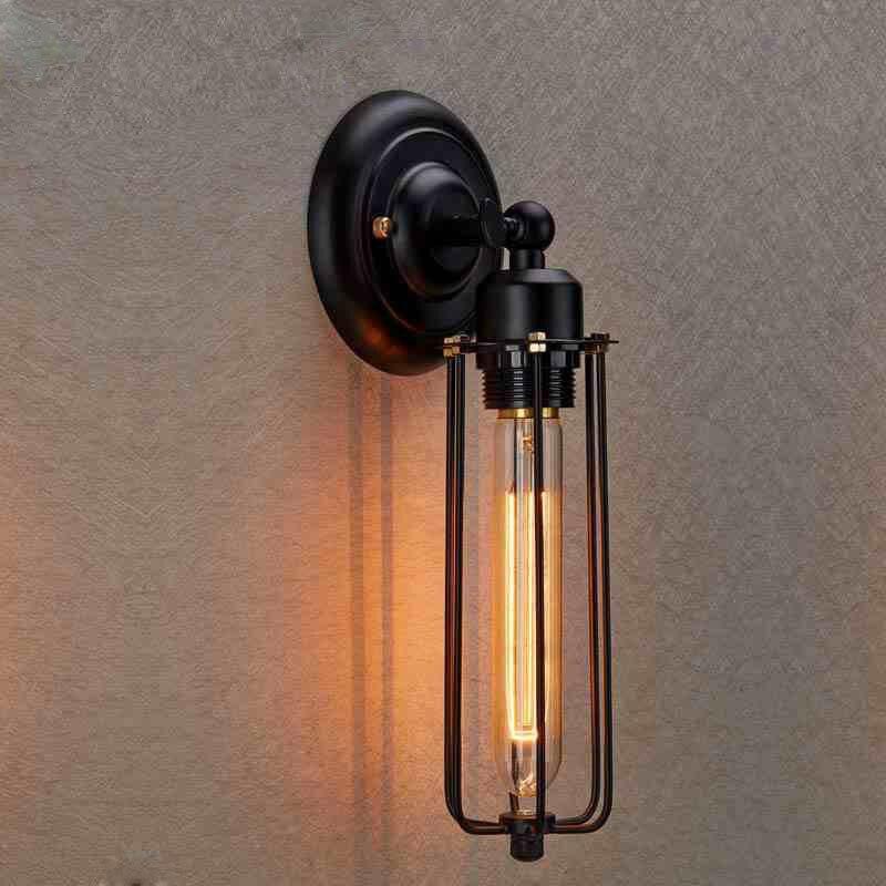 ФОТО American Retro Wall Lamps Loft Vintage Wall Lights for Coffee/Corridor Single Arm Wall Lamp Industrial Home Decor Bedside Lamp
