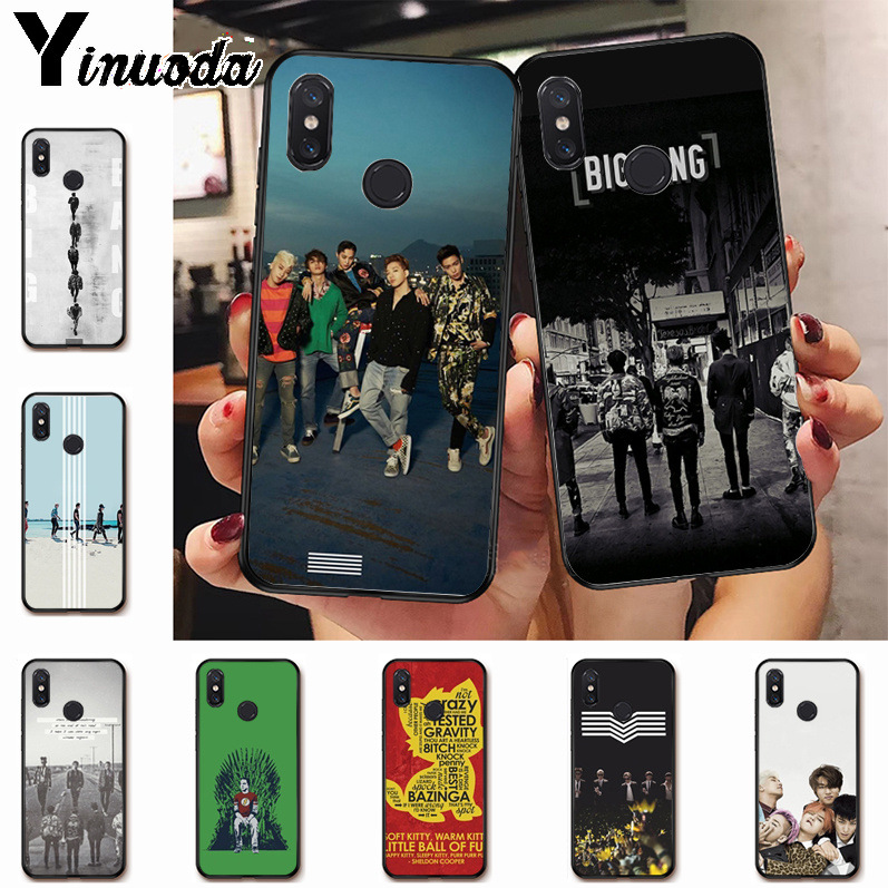 Ynuoda <font><b>bigbang</b></font> big bang boys Cute Phone Accessories Case for xiaomi mi 8 se 6 note2 note3 redmi 5 plus note5 Cover image